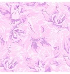 Purple flower seamless pattern vector