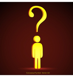 Question mark concept vector image vector image