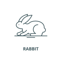 rabbit line icon linear concept outline vector image