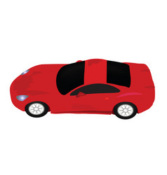 red sports car view from above vector image