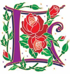 rosette letter L vector image