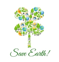 Save Earth environment protection concept vector image