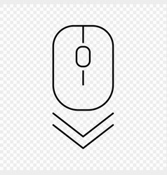 scroll down computer mouse icon vector image