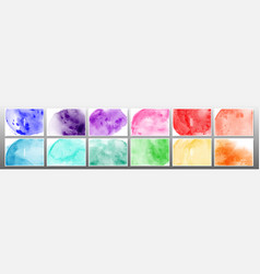 set bright colorful watercolor background vector image