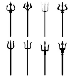 Set of trident vector image