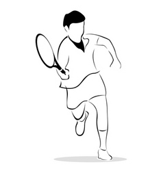 sketch of tennis player vector image