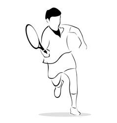 Sketch of tennis player vector