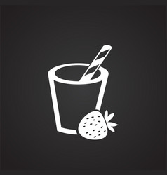 smoothie cocktail on black background vector image