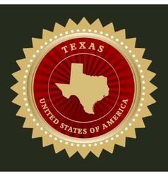 Star label Texas vector