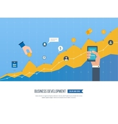 Strategy of successful business development vector image