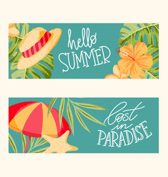 Summer cards collection vector
