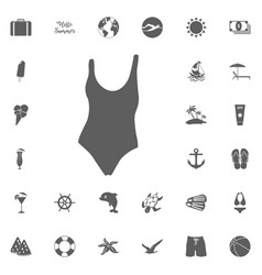 Swim suit icon vector