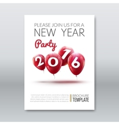 Template invitation new year holiday Holiday card vector image