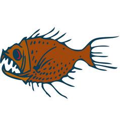 Underwater predator fish vector