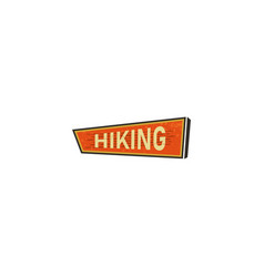 vintage hand drawn camping sign travel badge - vector image