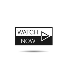 watch now button template vector image
