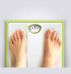 woman weight loss vector image