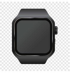 wrist digital watch mockup realistic style vector image