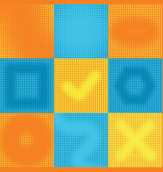 yellow blue halftone gradient texture pop art vector image