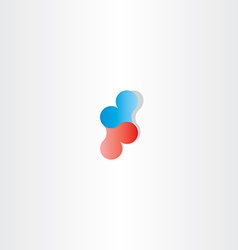 blue red heart logo sign design vector image vector image