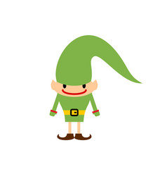 christmas elf isolated santa claus helper vector image