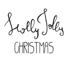 Decorative xmas lettering vector
