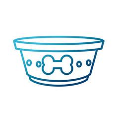dog dish food vector image