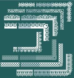 Frame elements set - different lace edges vector
