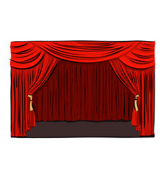 Hand drawn theatrical stage vector