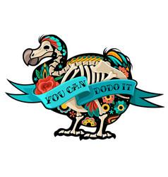 old school tattoo dodo vector image