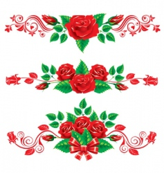ornaments with roses vector image