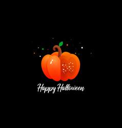 pumpkin and halloween vector image