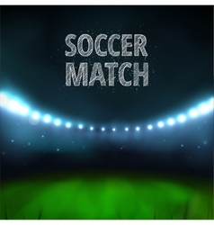 Soccer match vector image vector image