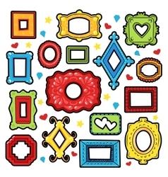 Vintage Frames Decorative Elements for Scrapbook vector image