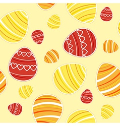 yellow easter seamless vector image vector image