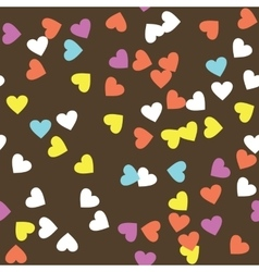 Colorful Donut Glaze Seamless Pattern vector image