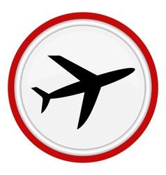 icon plane vector image