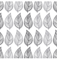 rustic leaves background icon vector image vector image