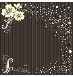 stylish floral vintage background vector image vector image
