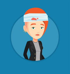 woman with injured head vector image