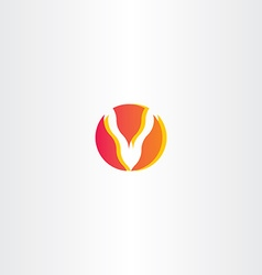 letter v fire logo icon vector image vector image