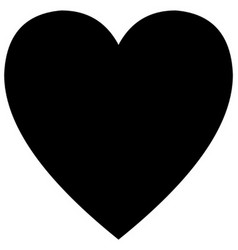 Minimalistic black heart icon template vector image vector image