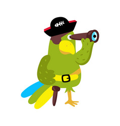 parrot in cocked hat icon vector image