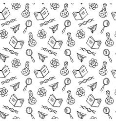 School laboratory background vector image vector image
