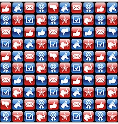 USA elections glossy internet icons pattern vector image vector image