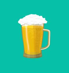 Beer mug isolated pot alcohol foam drink vector