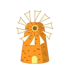 cute cartoon colored greek mill vector image vector image