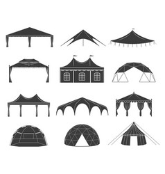 event tent set vector image vector image