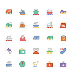 Logistics delivery Colored Icons 1 vector image vector image