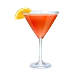 Martini glass with orange cocktail vector image vector image